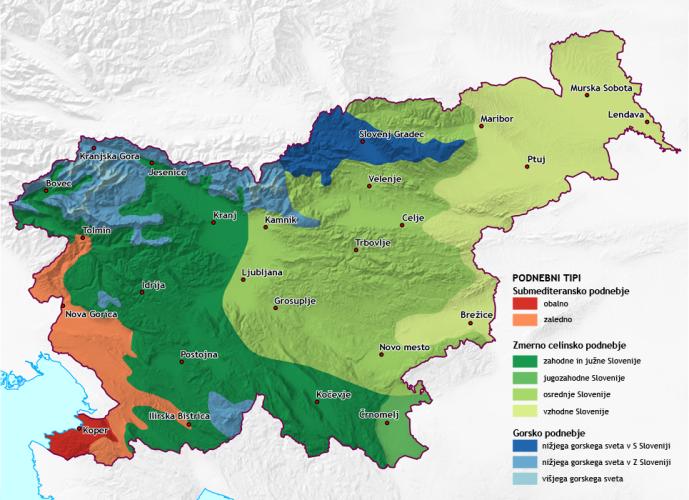 Podnebni tipi v Sloveniji